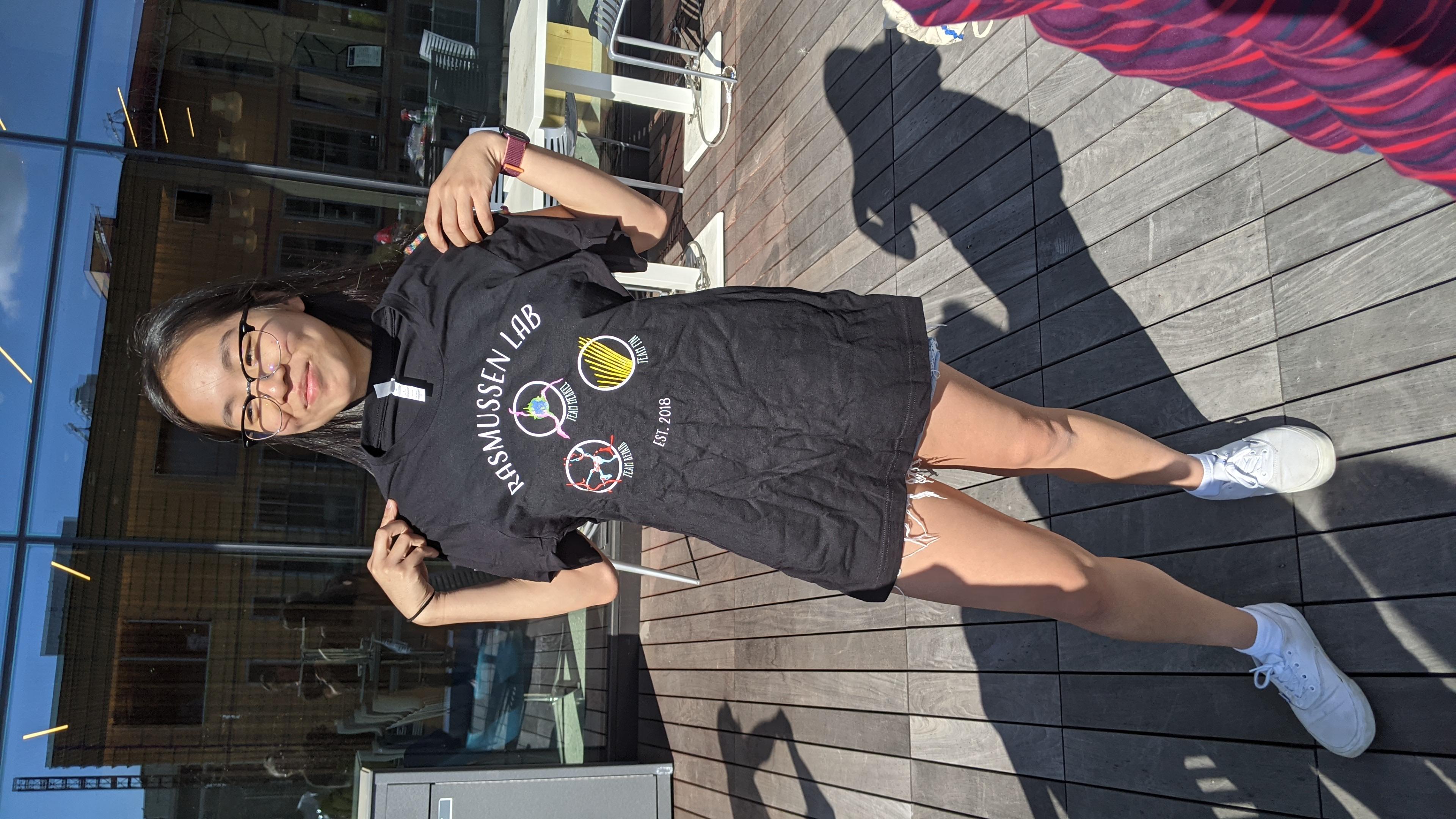 Christine and t-shirt